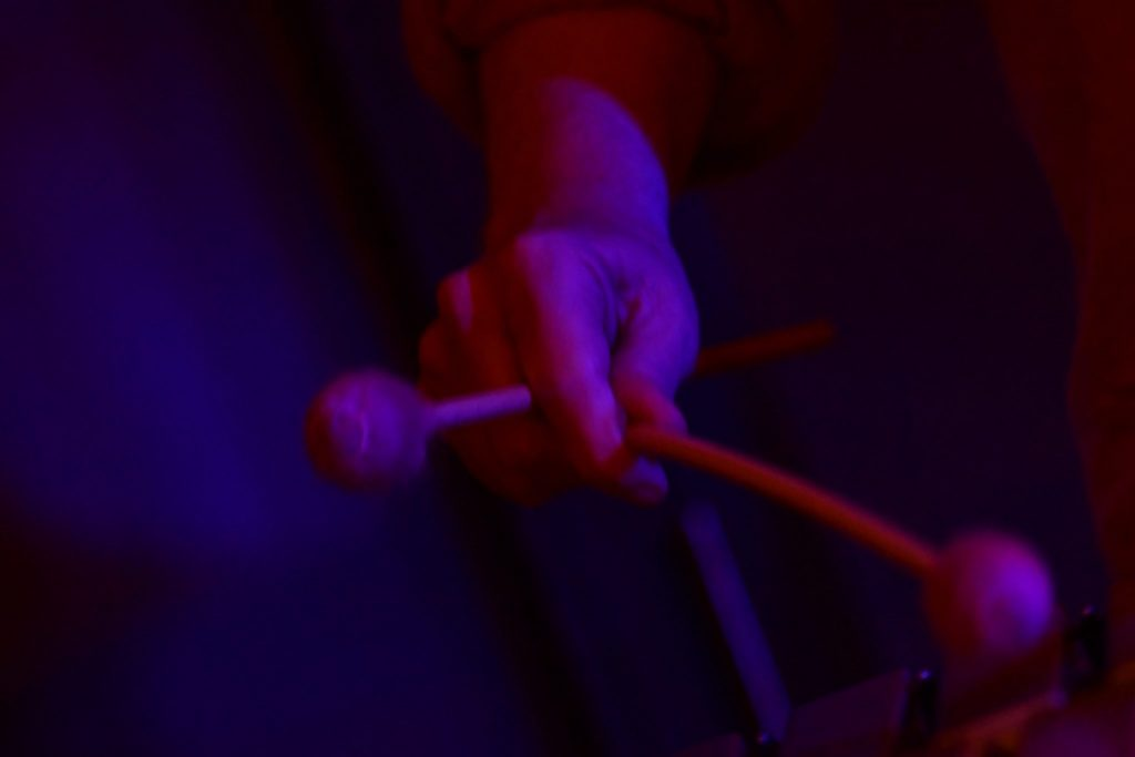 The movements created by the xylophone mallets are very difficult to catch but the visual effect is quite special